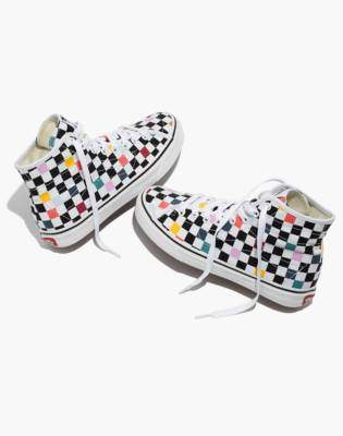 Madewell Vans Unisex SK8-Hi Decon High-Top Sneakers in Party Checkerboard