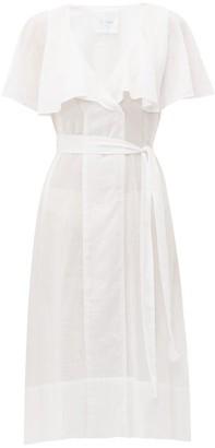 Loup Charmant Zelda Tie Waist Cotton Dress - Womens - White