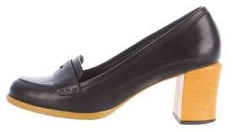 Fendi Leather Austen Loafer Pumps