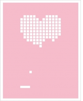 Hybrid-Home Limited Edition Print Heart Breakout - Pink