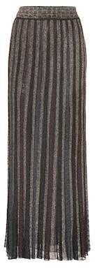 Missoni Metallic striped maxi skirt
