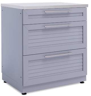 NewAge Products Outdoor Kitchen 3-Drawer Cabinet