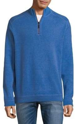 Tommy Bahama New Flip Side Pro Reversible Quarter-Zip Cotton Sweater