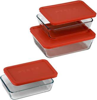Pyrex Value Pack 6-pc. Rectangular Food Storage Set