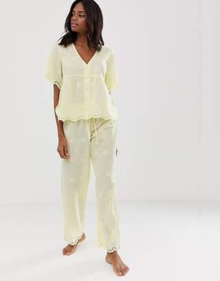 2eea741a7c Asos Design DESIGN mix & match broderie pyjama pants