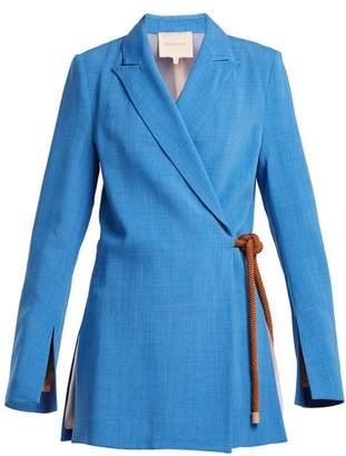 Roksanda Belted Rope Jacket - Womens - Blue