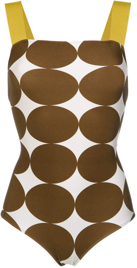 Adriana Degreas Pois Midi swimsuit