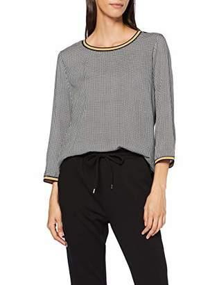 Tom Tailor Women's T-Shirt Fab, Black White Pepita Check, S, Grey C 19131, Small