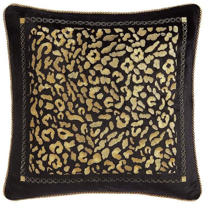 Myleene Klass Home Myleene Embroidered Velvet Leopard Cushion