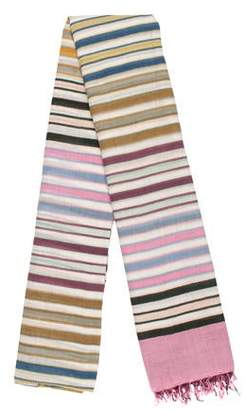 Epice Striped Fringed Scarf