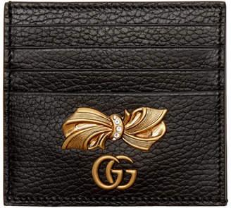 Gucci Black Petit Bow Card Holder