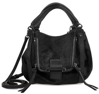 Kooba Leather & Calf Hair Shoulder Bag $278 thestylecure.com