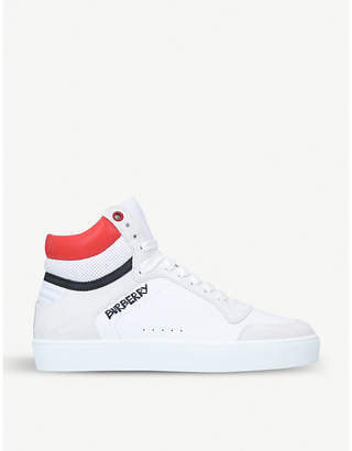 Burberry Reeth suede high-top trainers