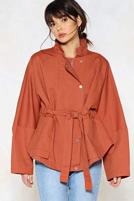 Nasty Gal Tie Again Later Oversized Jacket