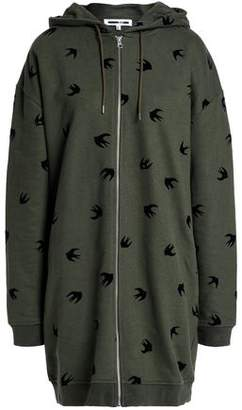 McQ Flocked French Cotton-Terry Hooded Jacket
