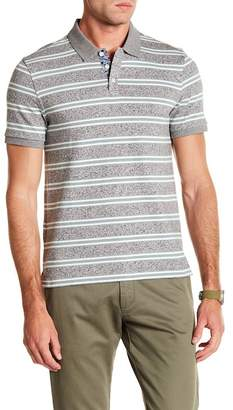 Original Penguin Short Sleeve Jaspe Retro Stripe Print Polo