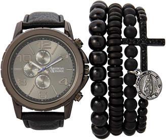 N. American Exchange MST5130 Black Watch & Bracelet Set
