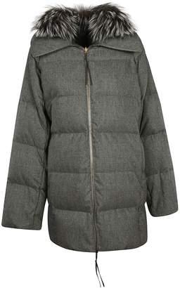 Agnona Fur Padded Jacket