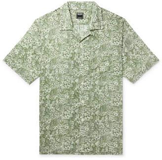 Todd Snyder + Liberty London Camp-collar Printed Cotton-poplin Shirt - Green