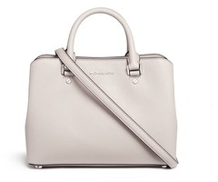 MICHAEL Michael Kors Michael Kors 'Savannah' medium saffiano leather satchel