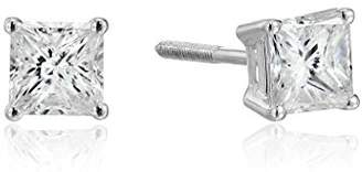 14k Gold Princess Cut Diamond Screw Back and Post Stud Earrings (3/4cttw