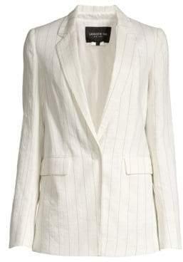 Lafayette 148 New York Women's Rhoda Pinstripe Blazer - Cloud Multi - Size 4