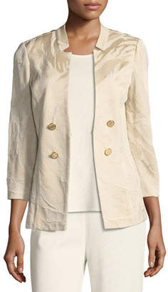 Misook Textured Button-Detail Jacket