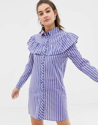 Glamorous stripe shirt dress