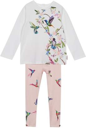 aee6b83845cae Next Girls baker by Ted Baker Baby Girls Print Pleated Top And Legging