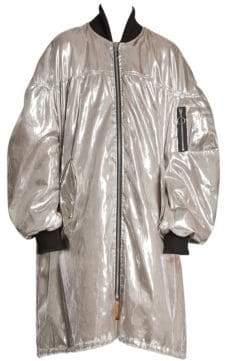 Marques Almeida Marques'Almeida Oversized Metallic Bomber Coat