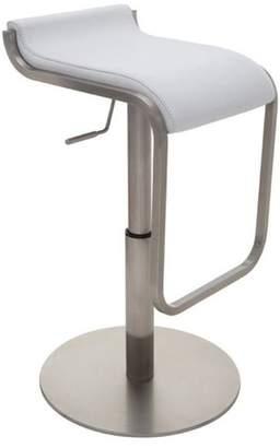 Nuevo Living Adora Adjustable Bar Stool, Modern Barstool, Brushed Stainless Steel Base