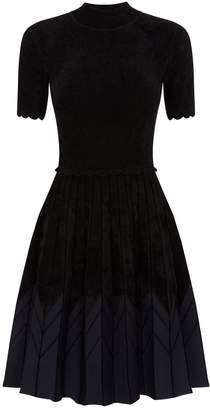 Sandro Contrast Hem Mini Dress
