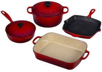 Le Creuset Enameled Cast Iron 6-Piece Signature Cookware Set