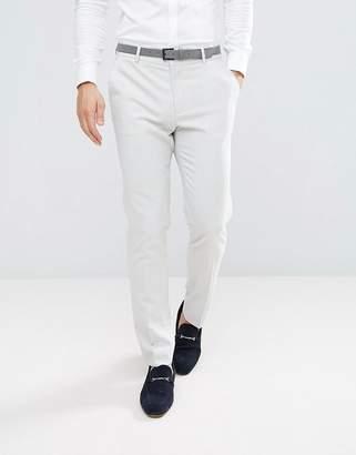 Asos Design Skinny Suit Trousers In Ice Grey