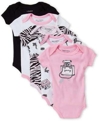 Juicy Couture Newborn Girls) 5-Pack Parfum Bodysuits