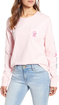 Vineyard Vines Breast Cancer Awareness Long Sleeve Pocket T-Shirt