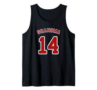 Retro Style Grandma Sports Gift Grandma Of 14 Tank Top