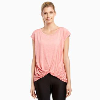 Jockey Short Sleeve Round Neck Tonal T-Shirt-Womens