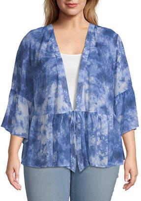 A.N.A Womens Elbow Sleeve Kimono-Plus