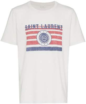 Saint Laurent university logo t-shirt