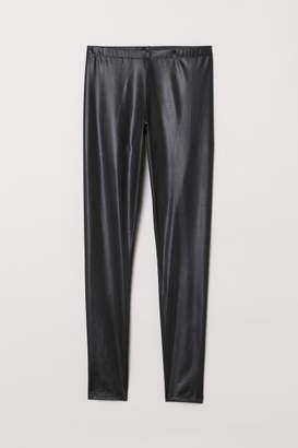 H&M Glossy Leggings - Black