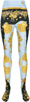 Versace patterned leggings