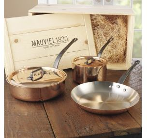 Mauviel M'heritage M'150c Copper & Stainless Steel Cookware Set with Cast Iron Handles