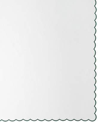"""Matouk Pique Tablecloth, 120""""Dia."""