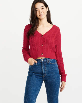 Abercrombie & Fitch Cropped Button-Up Cardigan