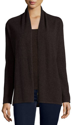 Neiman Marcus Cashmere Collection Modern Open Cashmere Cardigan $250 thestylecure.com