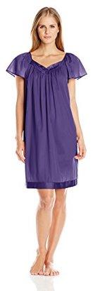 Vanity Fair Women's Coloratura Sleepwear Short Flutter Sleeve Gown 30109 $19.42 thestylecure.com