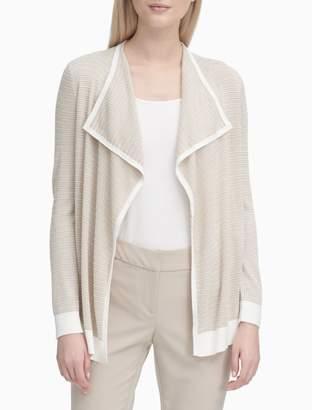 Calvin Klein Textured Stripe Flyaway Jacket
