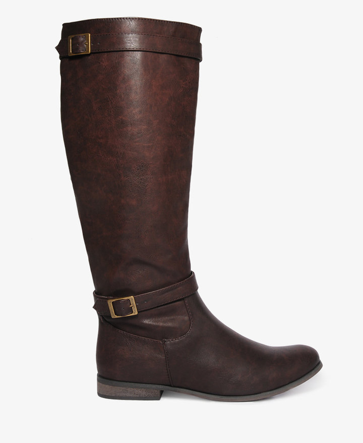 Forever 21 Distressed Riding Boots