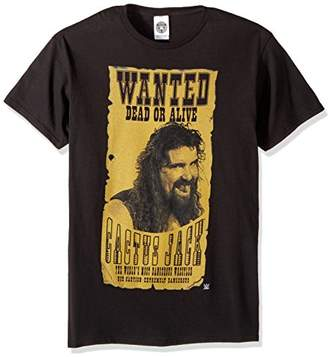 WWE Men's Cactus Jack Wanted Dead Alive T-Shirt